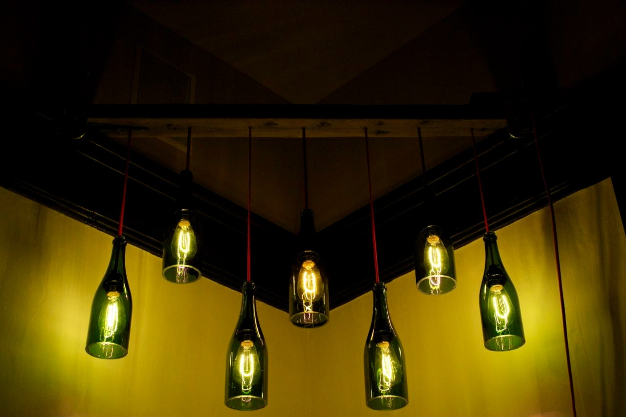 Wine bottle pendant lights - LightPallet