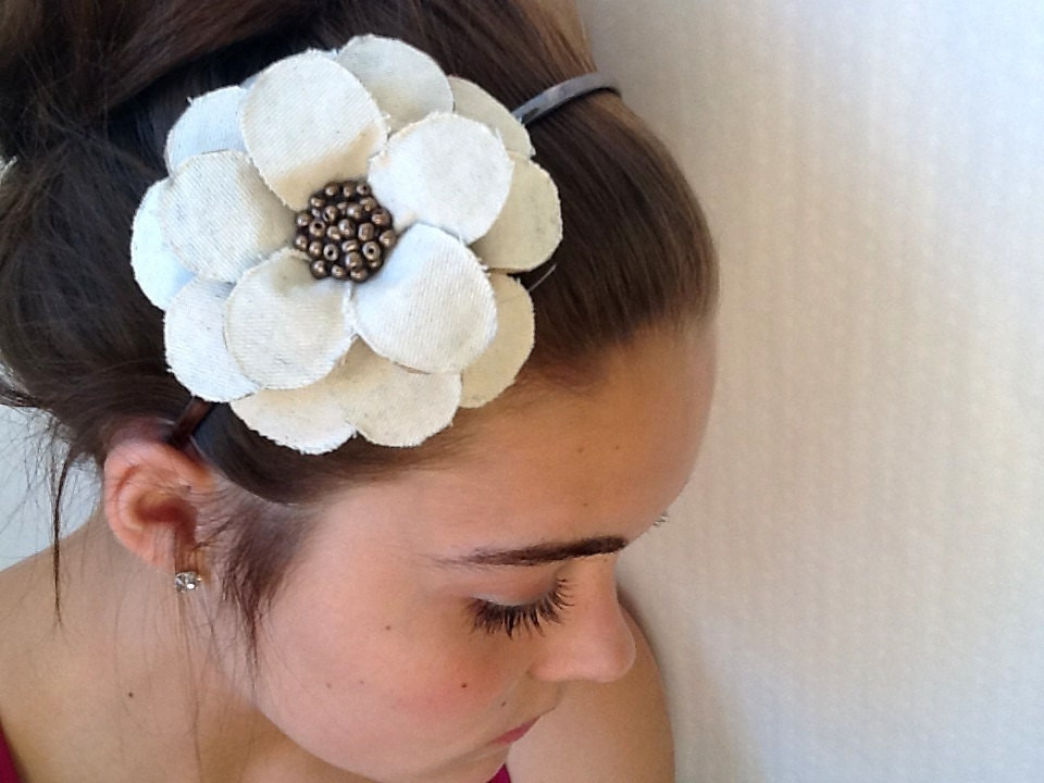 Twilled and Papered Daisy Headband
