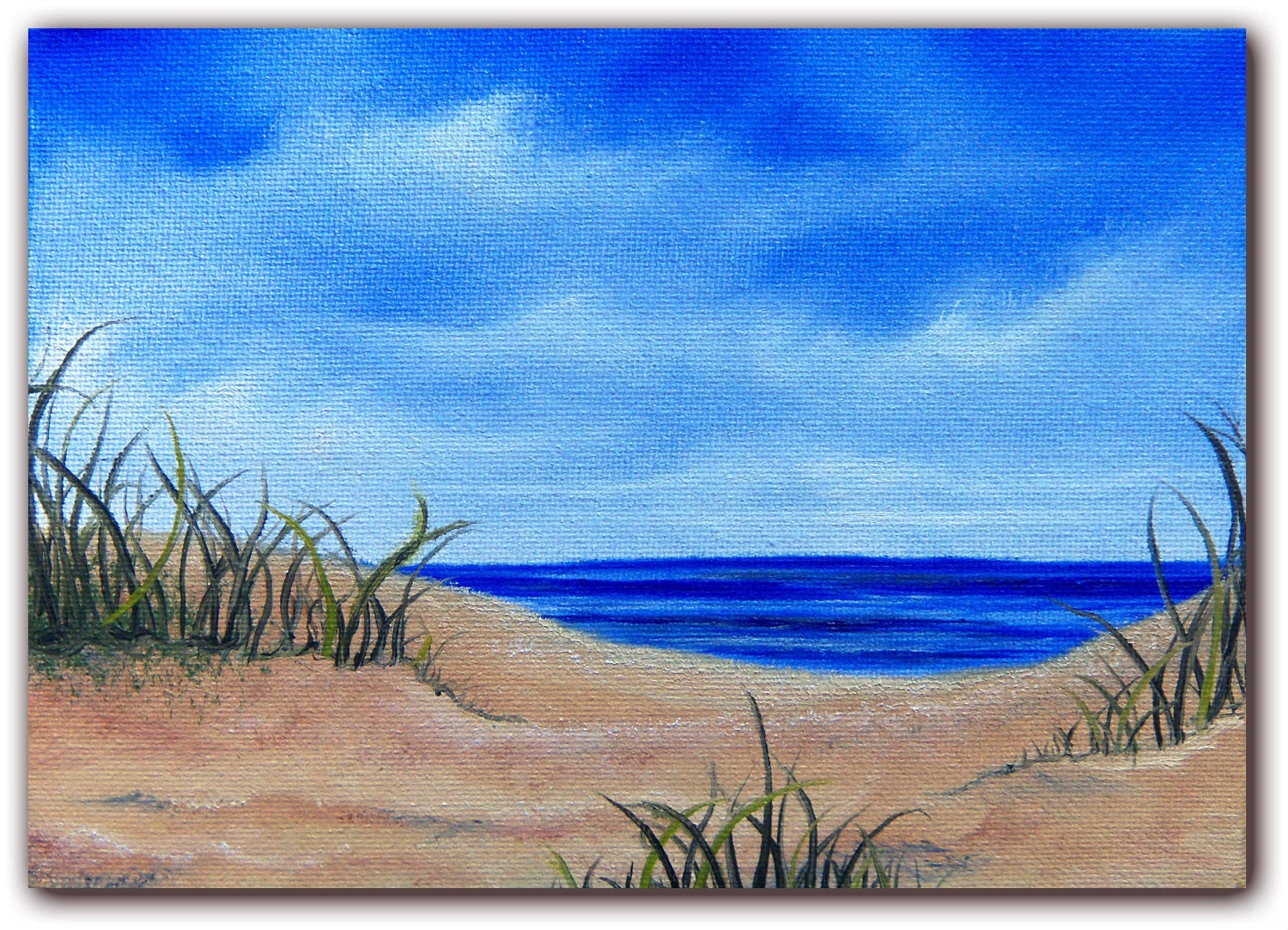 The gallery for easy beach sunset paintings for Mural simple
