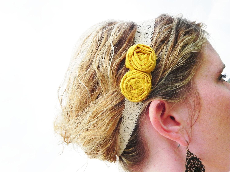 Lace Rosette Headband