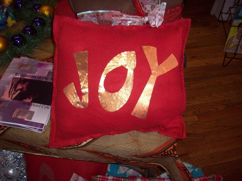 Joy Christmas Pillow