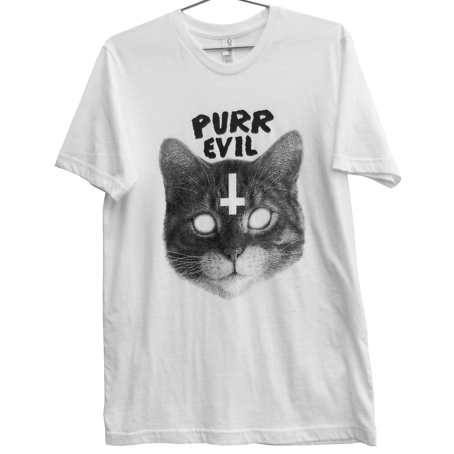 Purr Evil Cat T-Shirt (ATTN: notate SIZE during checkout)