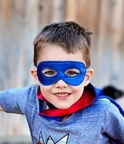 SUPERHERO MASK-super hero child or adult costume mask-matches our capes - Woodfrock