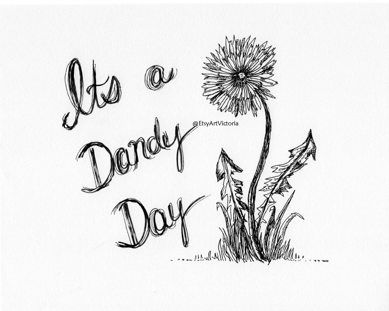 Drawings Of Dandelions