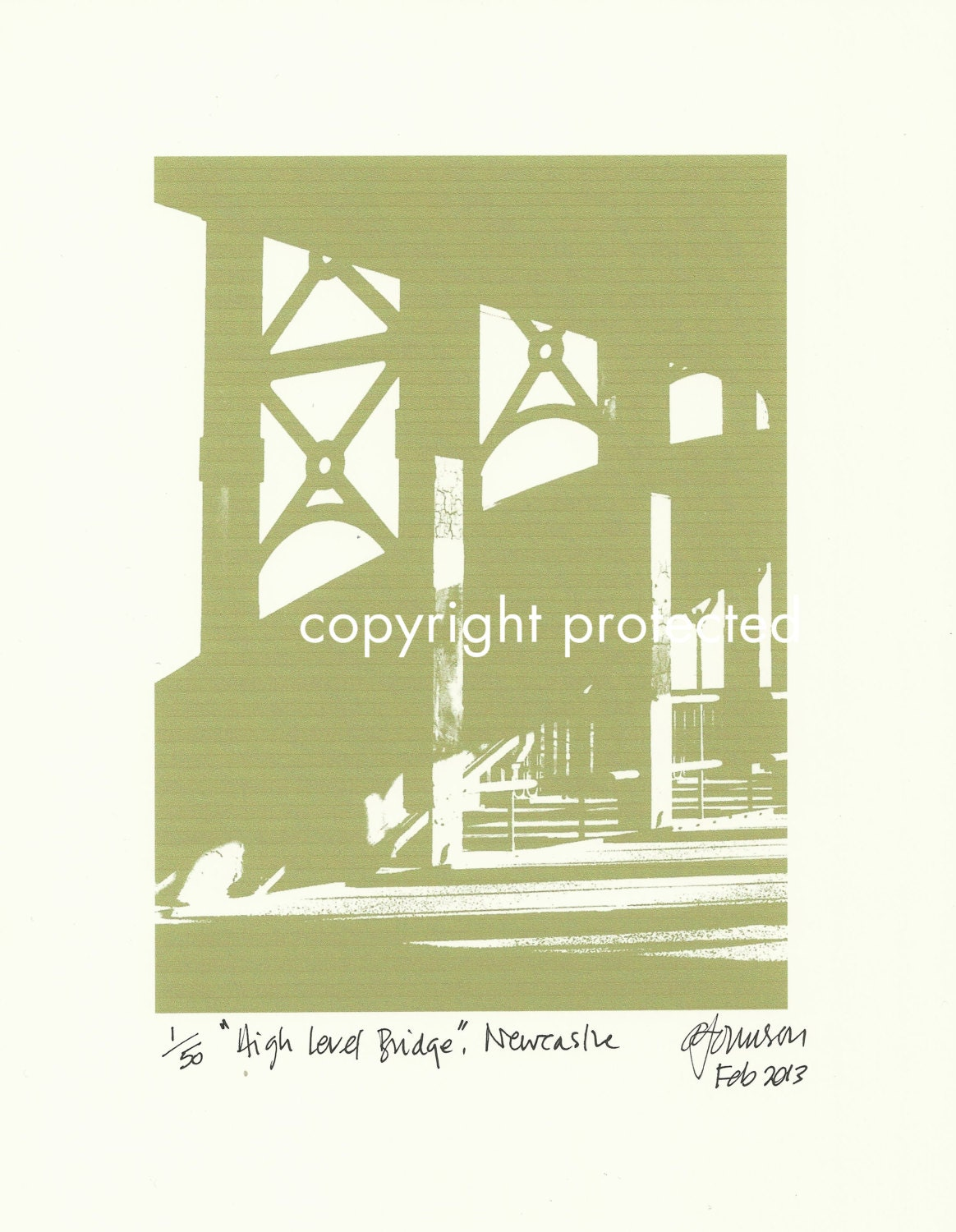 Limited Edition Print: The High Level Bridge, Newcastle Upon Tyne / Gateshead, England, UK