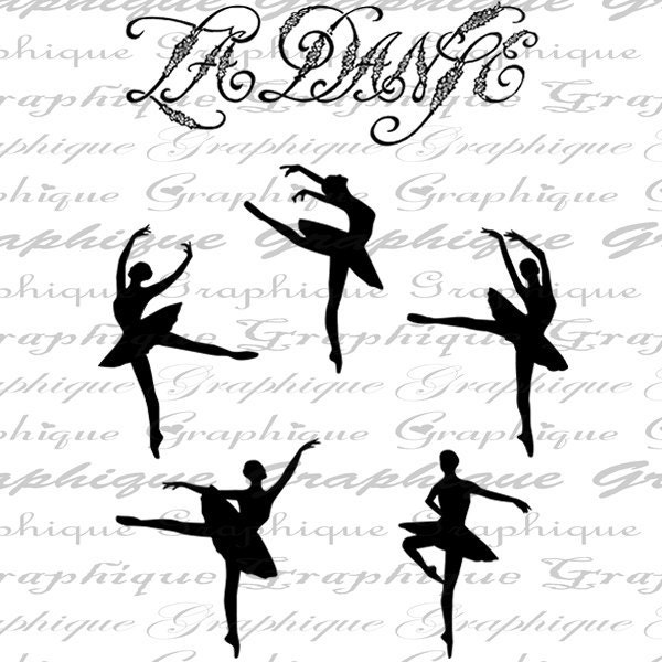 French Le Danse Dancers Ballet Ballerina Dance Dancing Digital Image Download Transfer For Pillows Totes Tea Towels Burlap No. 2389