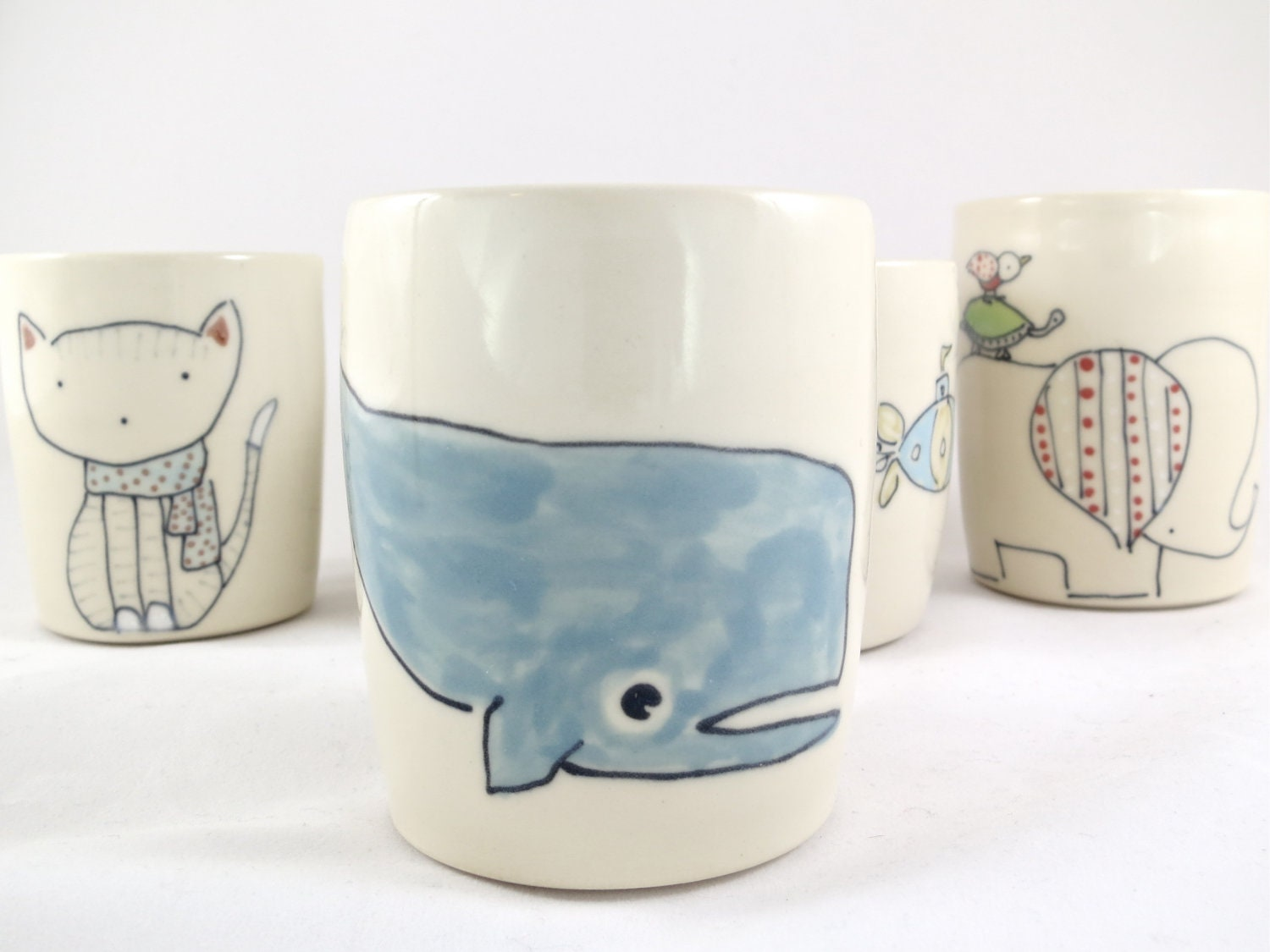 Whale Juice Cup - Handmade Ceramic Cup