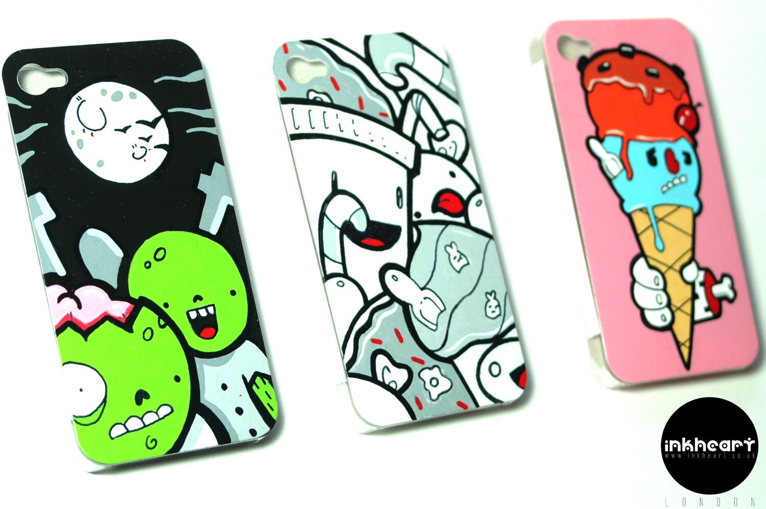 Kawaii Handpainted iPhone Cases