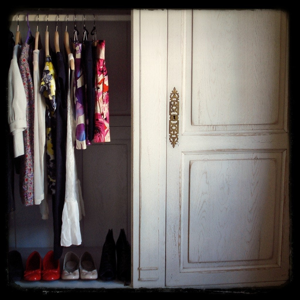 french girl's wardrobe . . . 5x5 fine art photography print - lesleysico