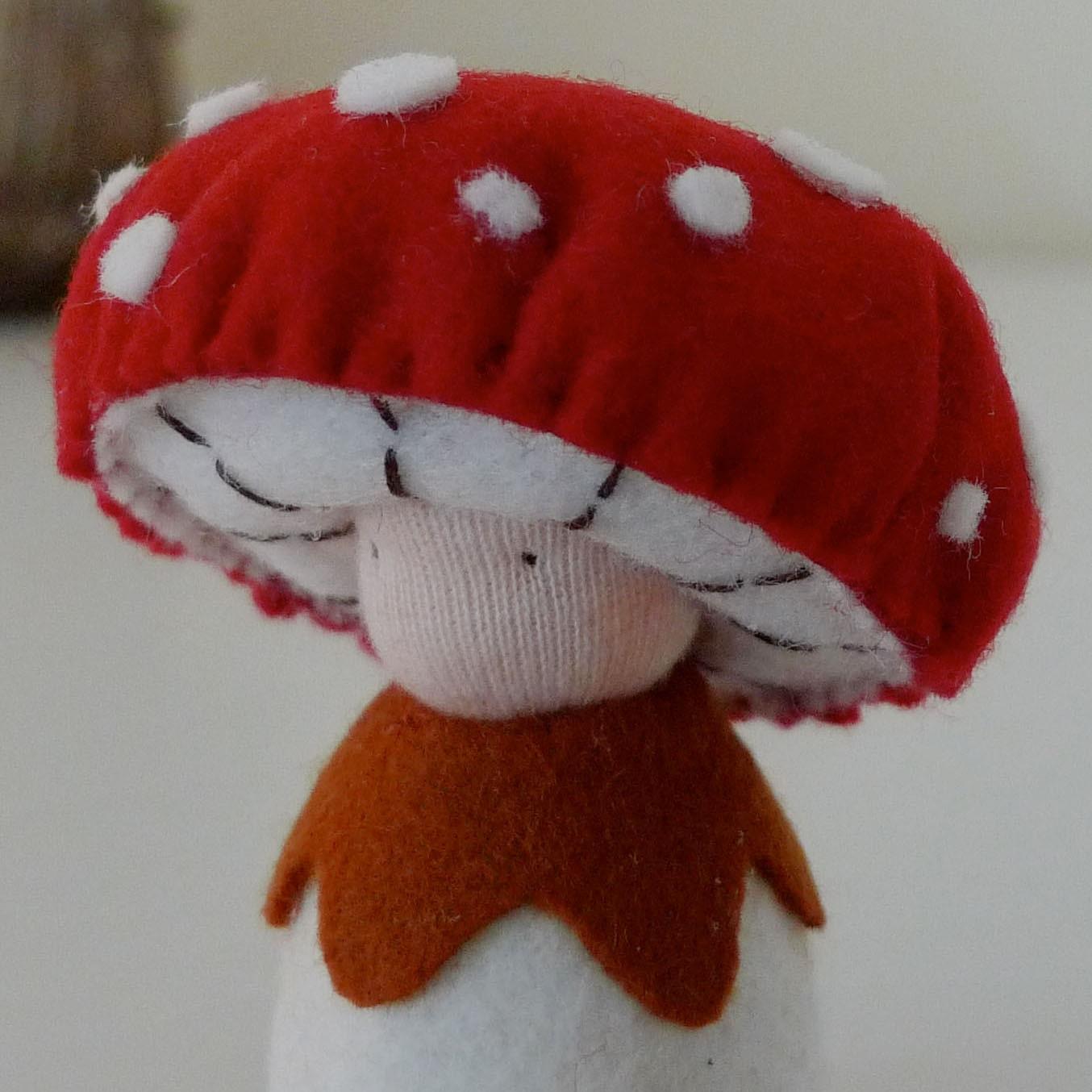 Mushroom Doll / Felt Plushie / Musca