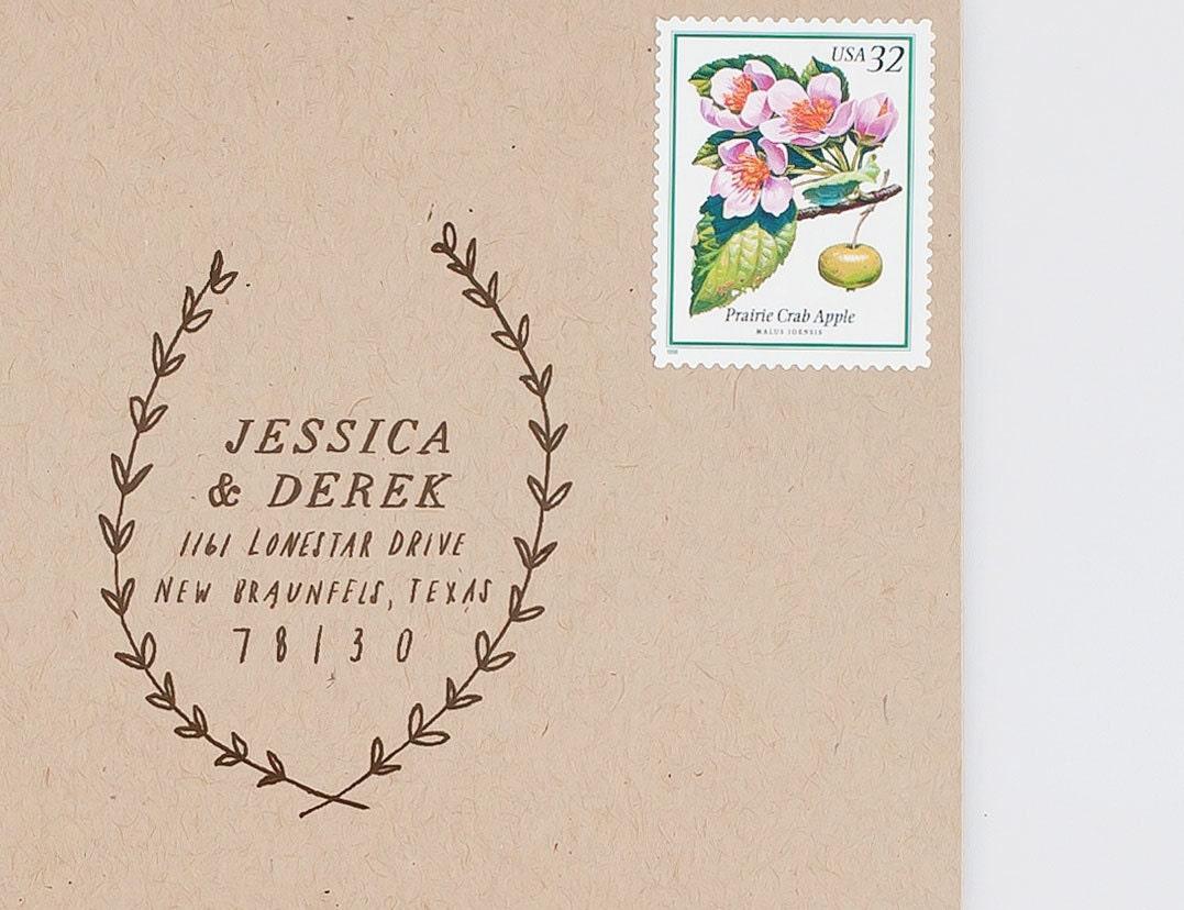 Woodland Custom Address Stamp - TheCreativeParasol
