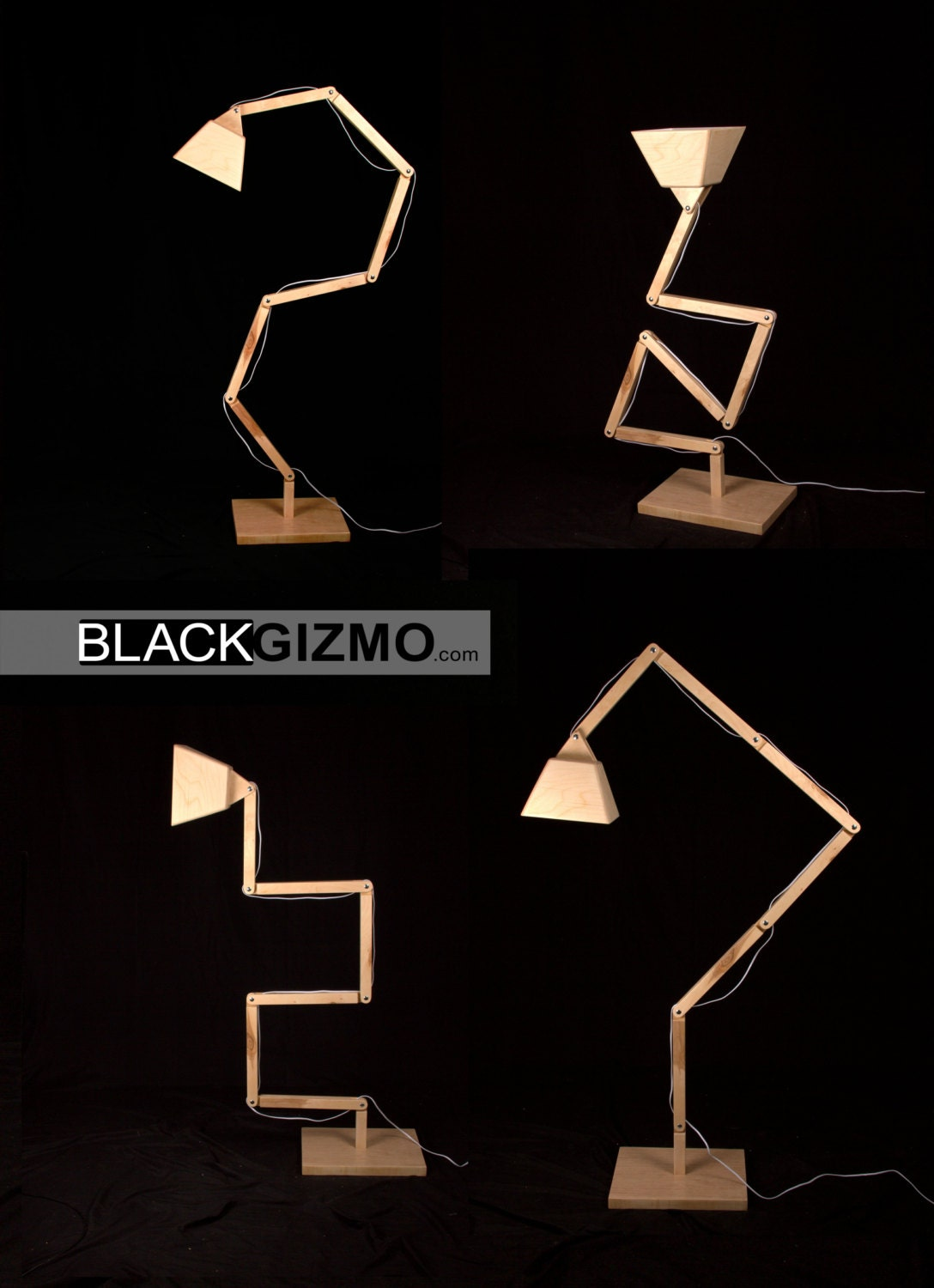 Wooden Floor Lamp DL022 BlackGizmo