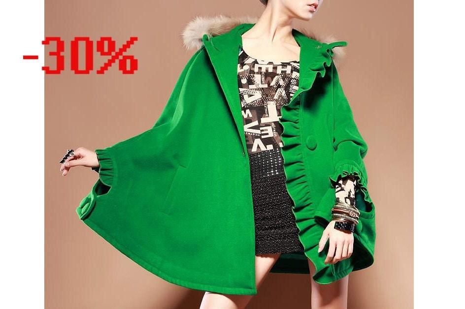 kekebo 30 ٪ خاموش ترمه فروش پشم لباس کت پوست کت کت صورتی سیاه قرمز سبز سیاه کت کت کت کت گل بلند پرسید :