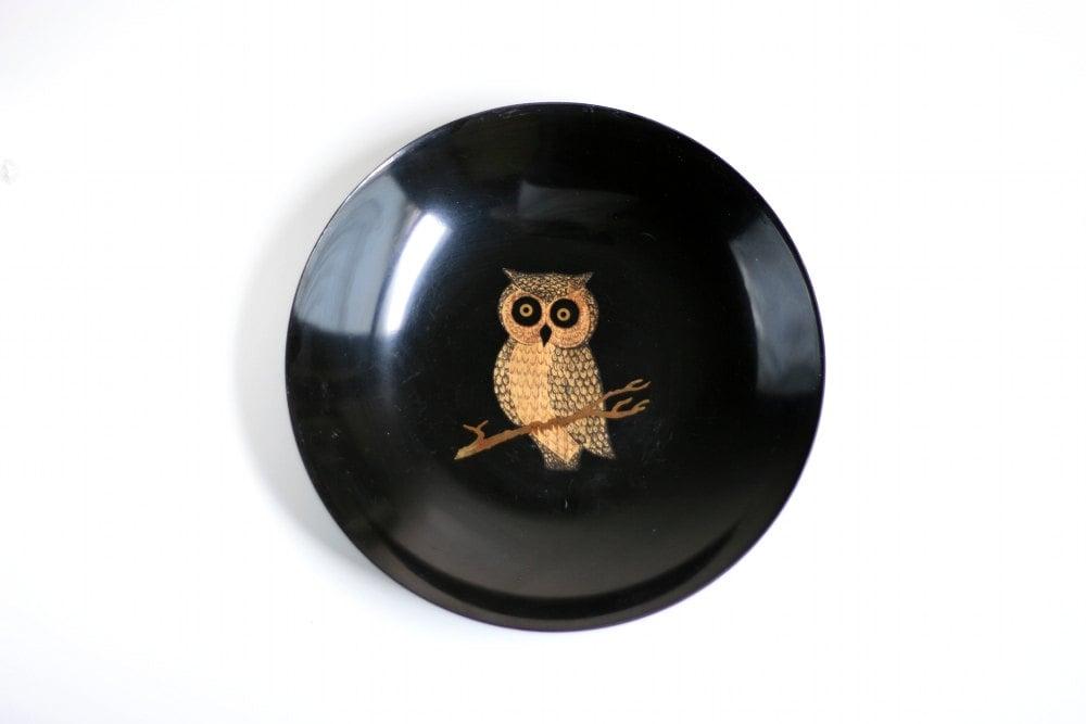 Vintage Couroc Owl Dish - WiseApple