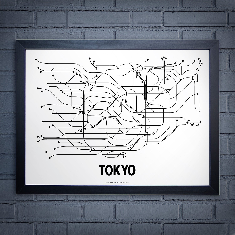 Tokyo Lineposter - White/Black