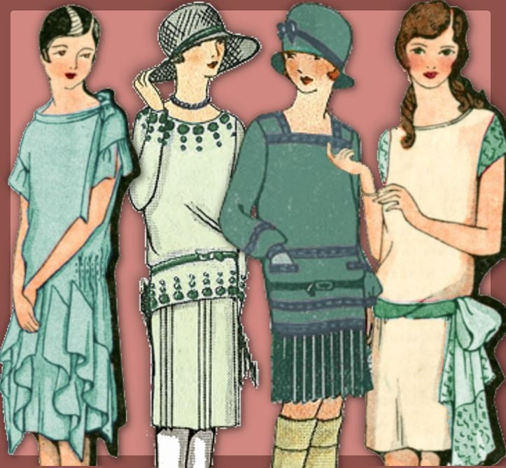 sale Sew 1920s Downton Abbey Frocks - Easy - Make your own 1920 Dress Patterns and MORE PDF e-Booklet - eVINTAGEpatterns