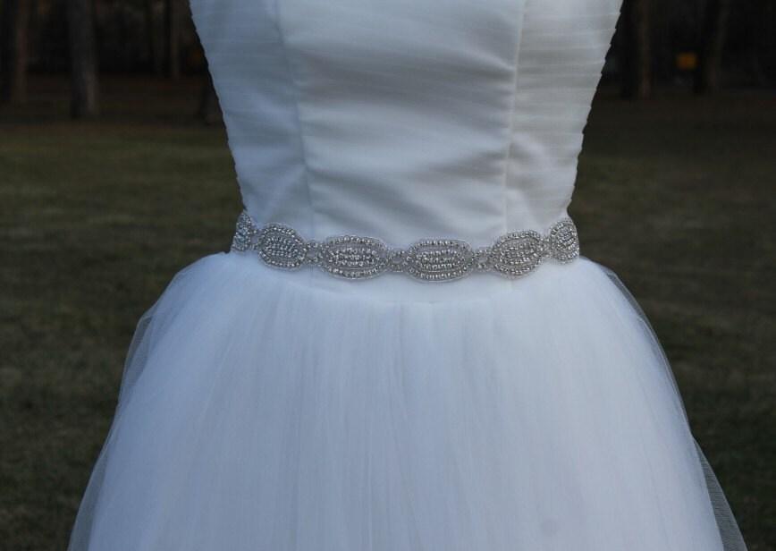 Bridal belt sash ribbon bridal sash rhinestone bridal belts