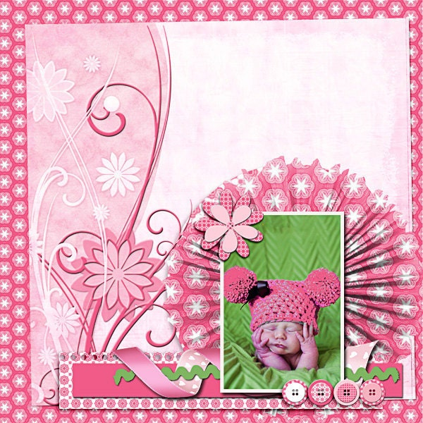 pink digital scrapbook kit