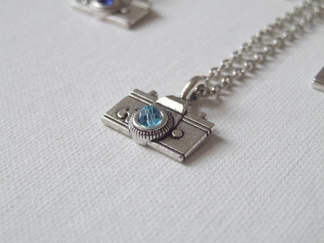 Camera necklace - silver necklace with a camera charm - photographer's necklace - modern, trendy, hip