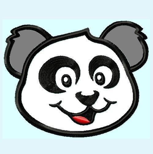 panda bear face. Black Bedroom Furniture Sets. Home Design Ideas