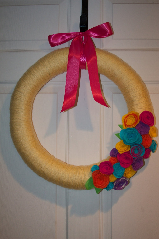 Spring time/ Easter Yarn Wreath