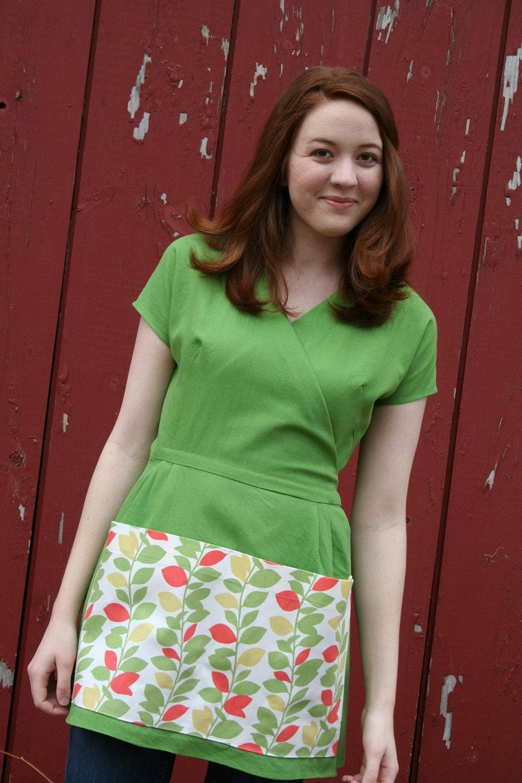 Gardening Apron/Gardening Smock - Green Linen ...