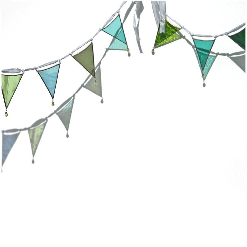 Dragonfly - a stained glass bunting or garland