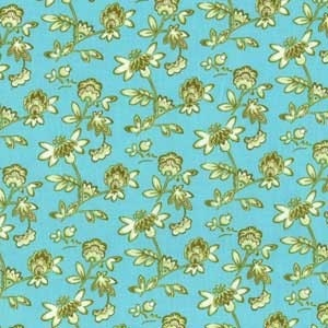 Paula Prass Petite Garden Fabric in Ocean for Michael Miller Fabrics