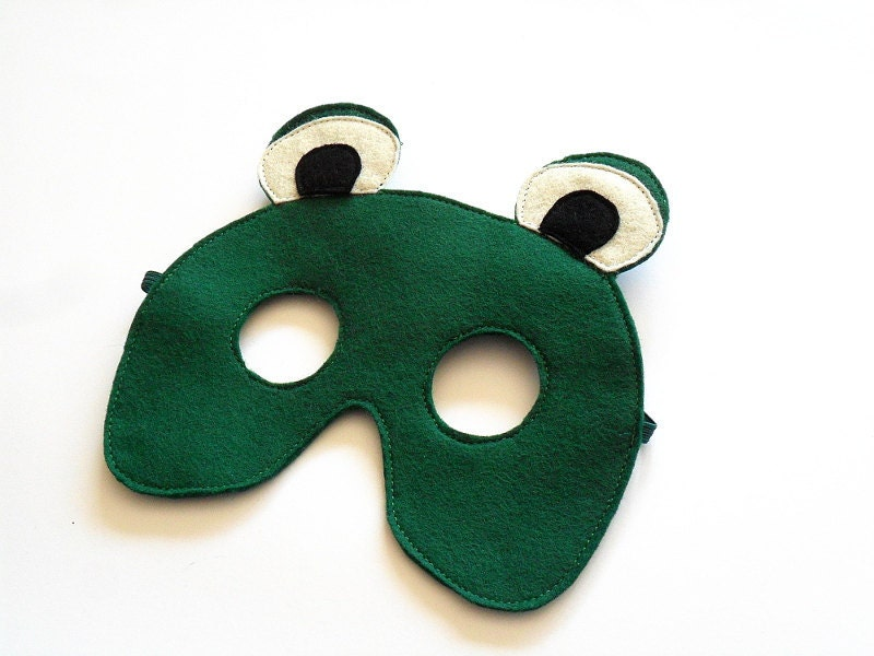 Frog Felt Children Mask Kids Carnival Mask, Toad Dress up Costume Accessory, Pretend Play Toy for Girls Boys and Toddlers