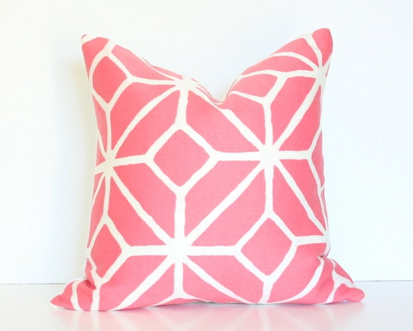 Trina Turk Trellis in Watermelon - Designer Pillow Cover 17x17