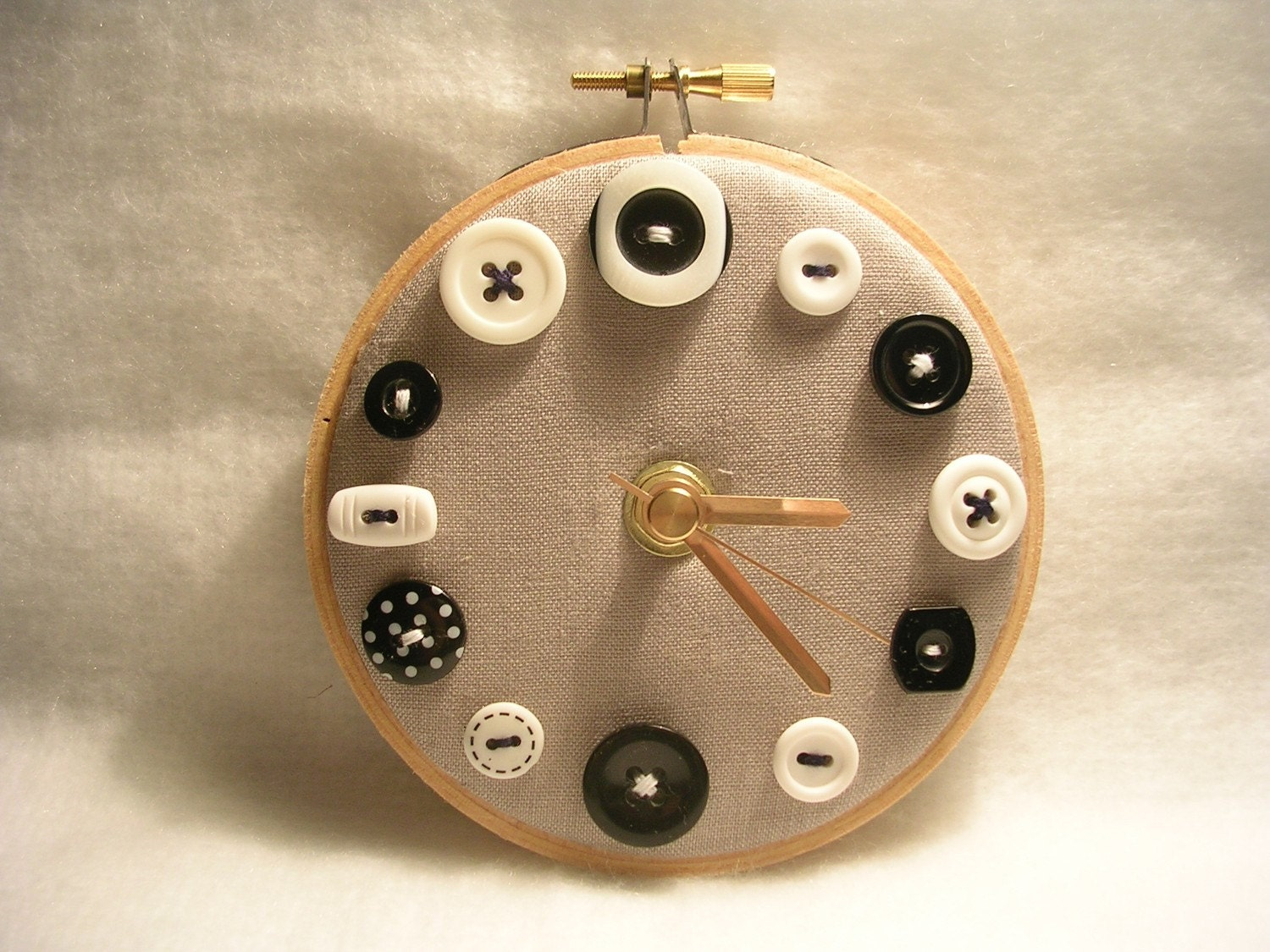 Monochrome Mini Button Wall Clock