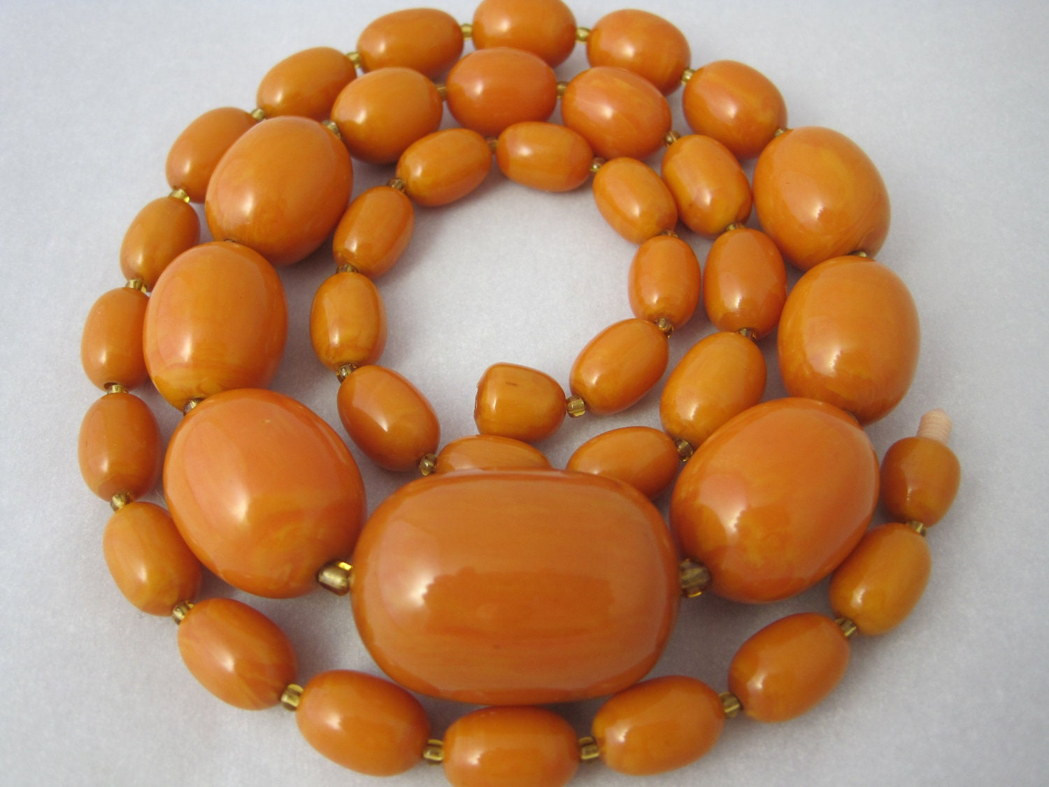 Butterscotch Bakelite Beads - Graduated