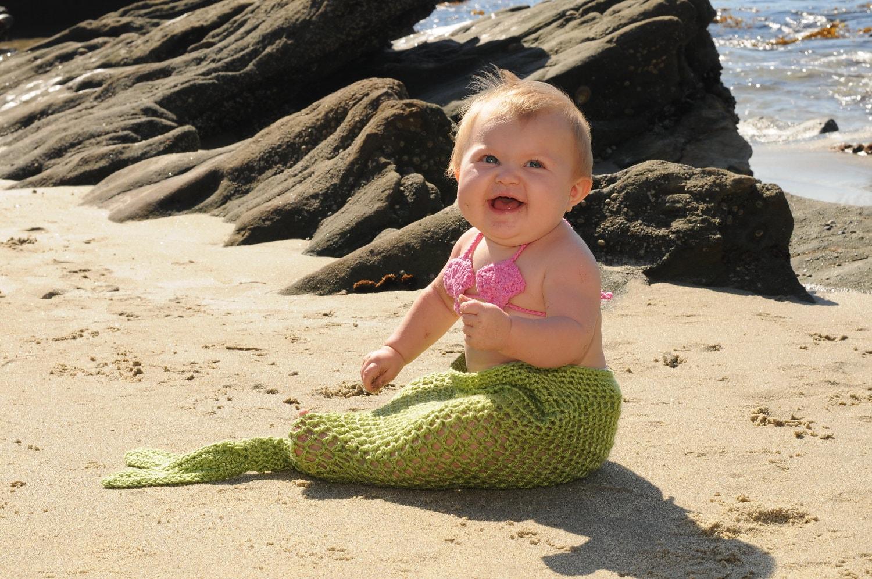 Mermaid Tail Newborn Photo Prop or Costume - SquishyCouture