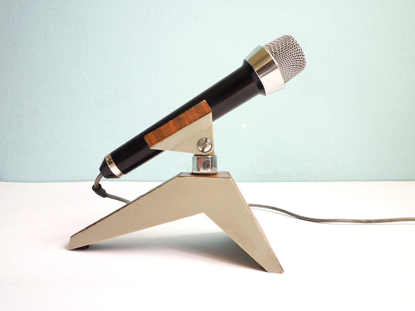 Vintage 60s microphone with stand - EuroVintage