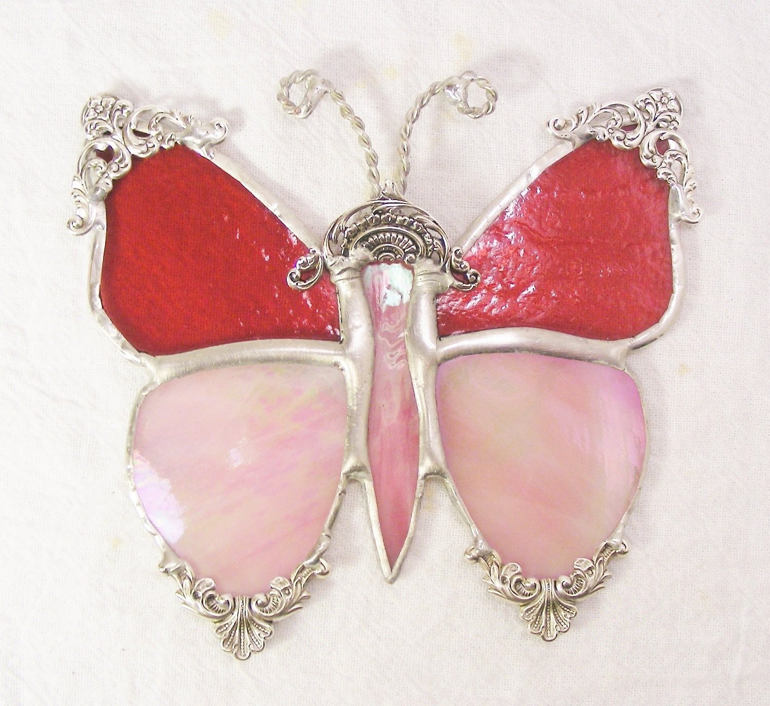 Cranberry and Pink Victorian Butterfly - MoreThanColors