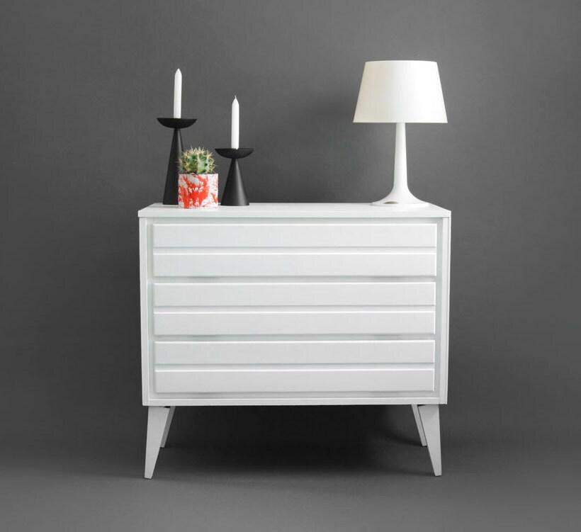 Vintage 1960's Wood Dresser - Mid Century, Modern, Cabinet, Retro