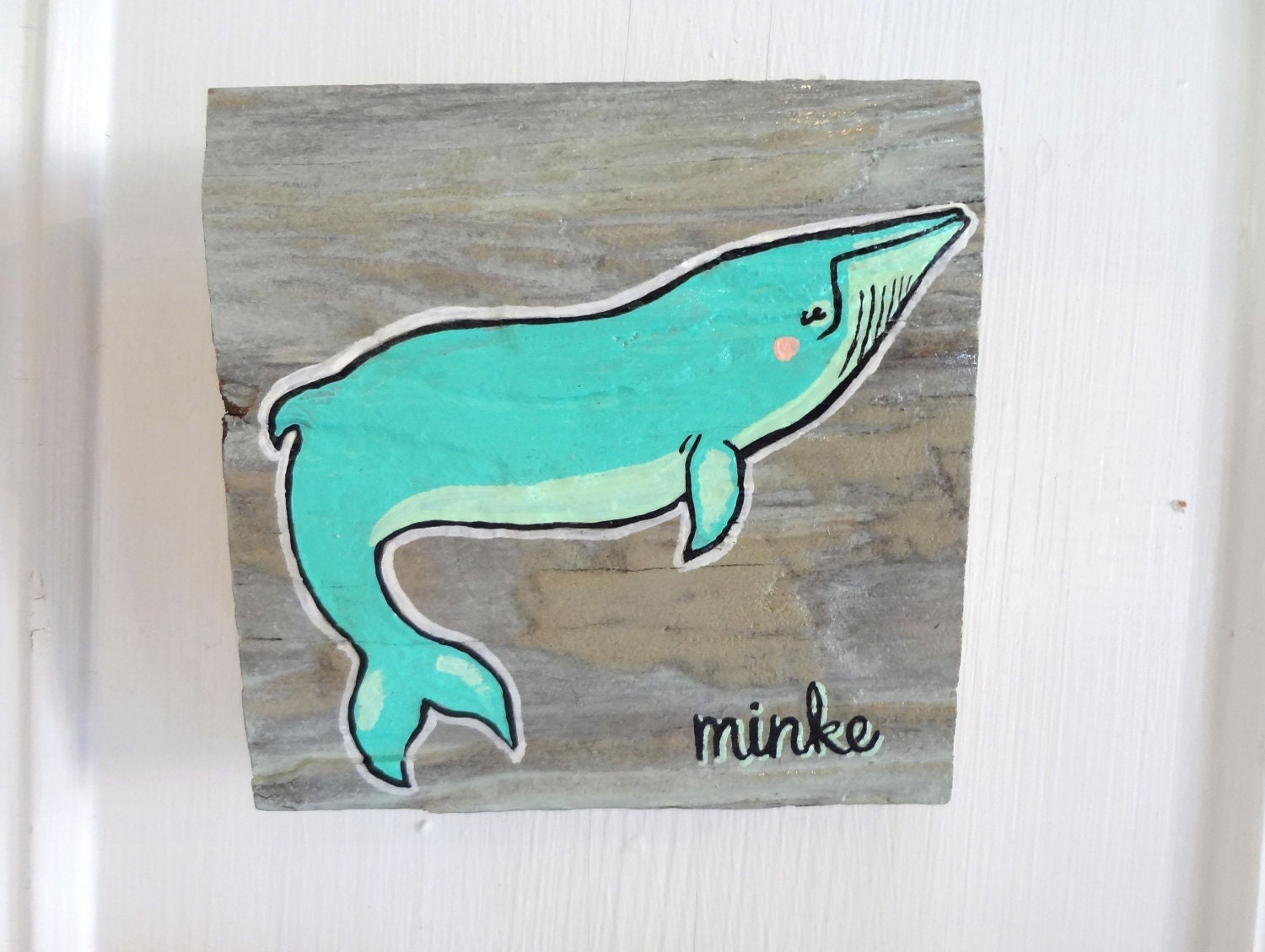 Minke Whale on Reclaimed Maine Barn wood