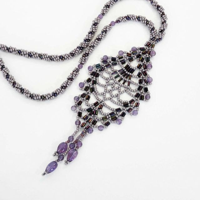 Amethyst Beads and Purple Seed Beads Create a Necklace for Special Occasions. Feel and Look Sensational. - SeedlingDesigns