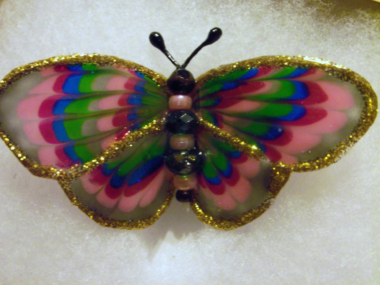 Multi color  butterfly brooch