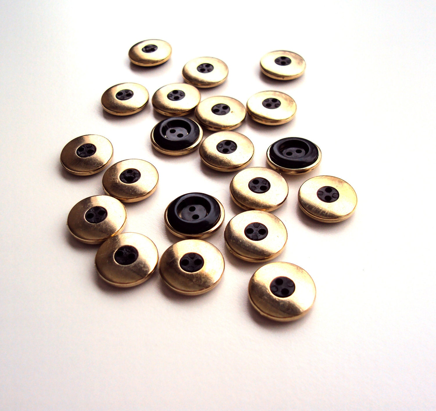 Vintage Gold and Black Buttons from the 50's