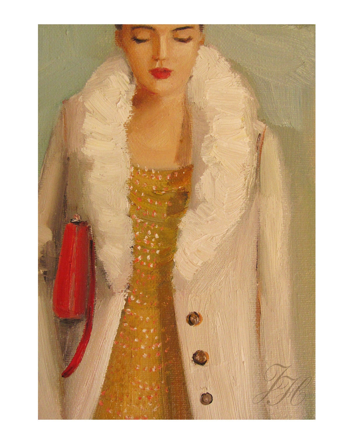 Janet Hill Studio - Portraitp of a  French Girl