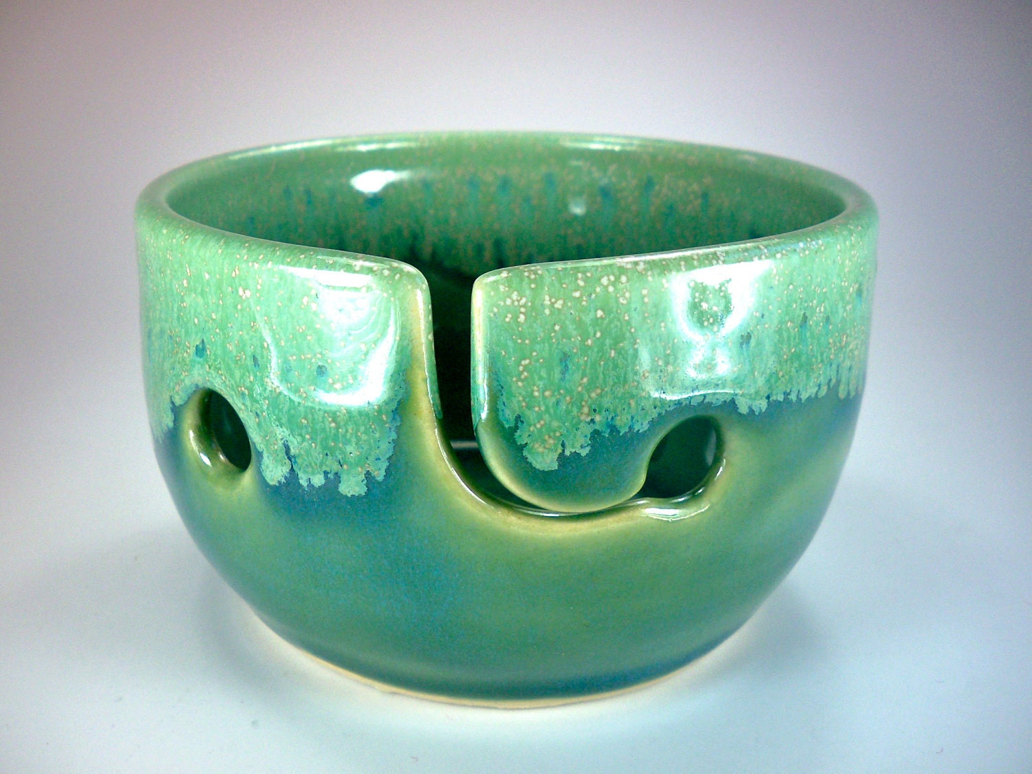 Knitting Bowl, Yarn Bowl, Portable Travel Size, Handmade Ceramic Pottery, In Stock