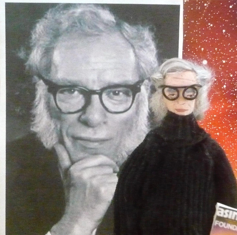 Science Fiction Art Doll Isaac Asimov Miniature
