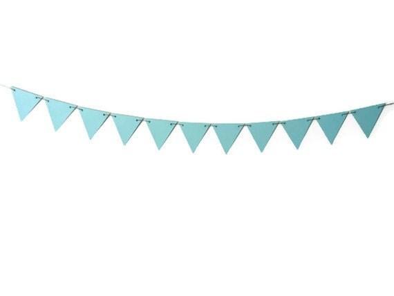 Modern Bunting Banner Seafoam Triangles Pastel Blue by LoveStar1