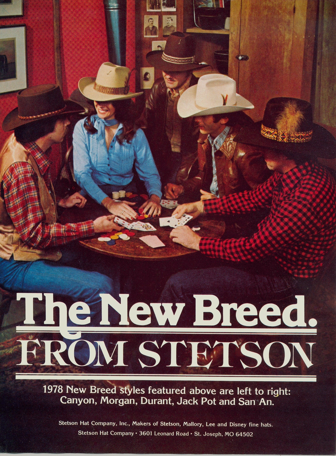 Vintage Magazine Ad for Stetson Hats Cowboy Hat Ad