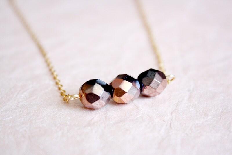 ombre minimalist dainty necklace - PetiteCo