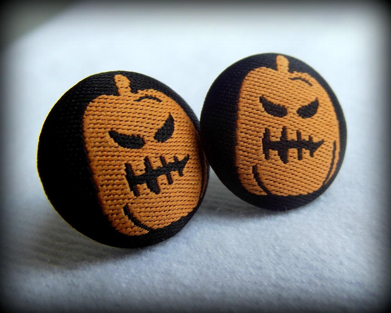 Halloween Earrings, Pumpkin Earrings, Jack-o-lantern