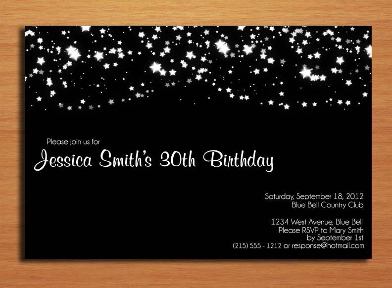 ... Customized Printable Adult Birthday Party Invitation Cards DIY
