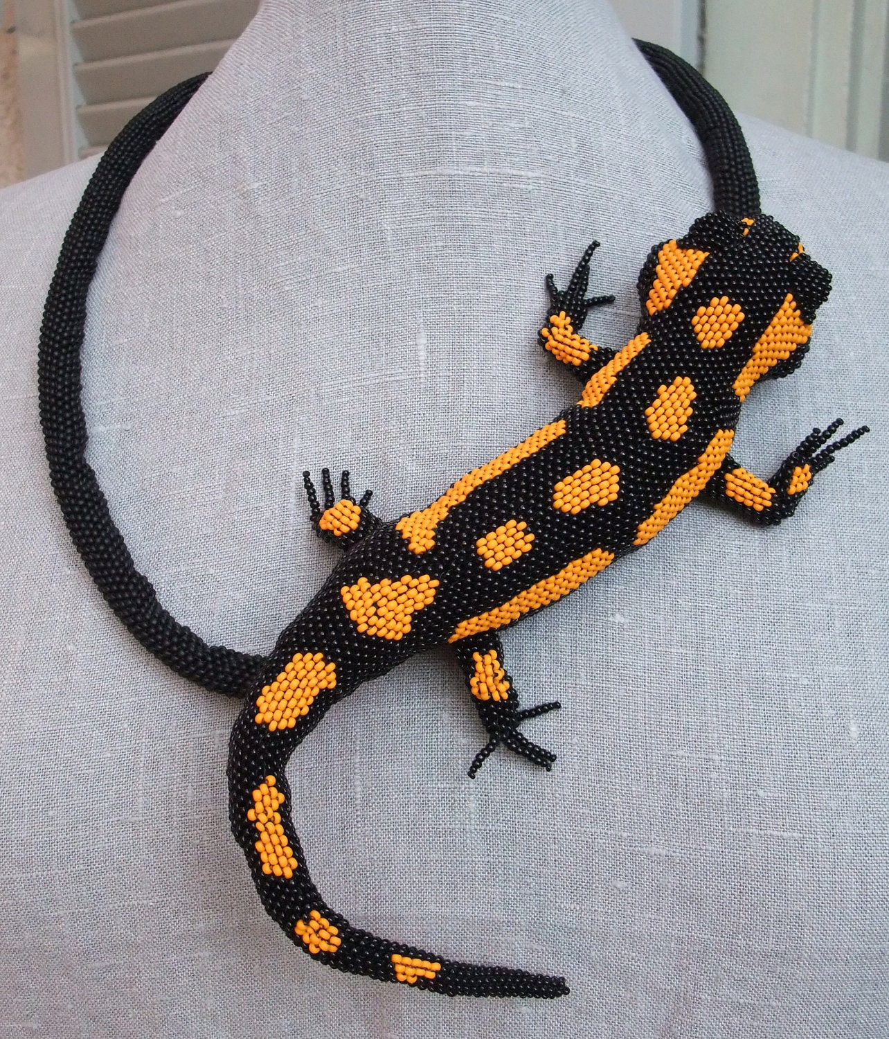 FIRE salamander necklace - KrisDesignFSP