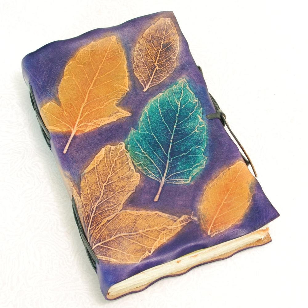 Leaves Leather Journal. - GILDBookbinders